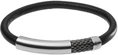Emporio Armani Skórzana bransoletka z zapięciem ze stali EGS2385020