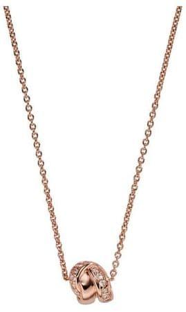 Emporio Armani Luxusný bronzový náhrdelník EG3320221 (retiazka, prívesok) striebro 925/1000