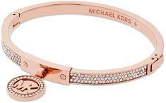 Michael Kors Pevný luxusné náramok s kryštálmi MKJ5978791