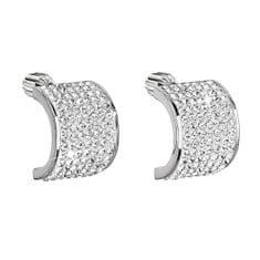 Evolution Group Csillámló ezüst fülbevaló 31195.1kristály ezüst 925/1000