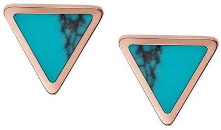Fossil Háromszögletű türkiz fülbevaló JF02638791