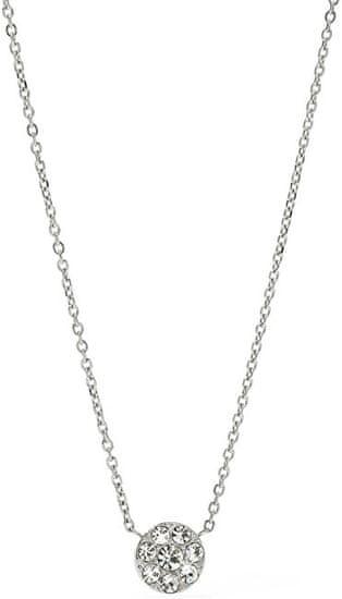 Fossil Oceľový náhrdelník s kryštálmi JF00844040