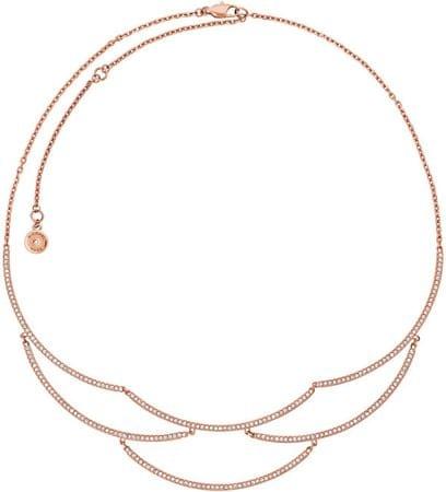 Michael Kors Luxusný bronzový náhrdelník s kryštálmi MKJ6637791