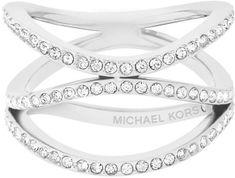Michael Kors Nemesacél gyűrű kristályokkal MKJ6639040