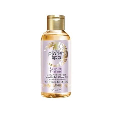 Avon Planet Spa hidratáló zuhanyzás közbeni testápolóolajkókusztejjel és szantálfa kivonattal (Moisturis