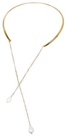 JwL Luxury Pearls Pozłacany naszyjnik z perłą prawej JL0347ch