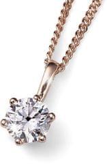 Oliver Weber Brilliance vörös arannyal bevont ezüst nyaklánc kristállyal61125RG 001 ezüst 925/1000