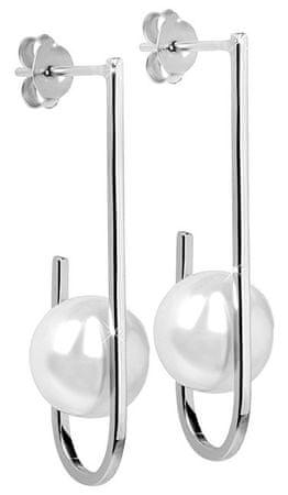 JwL Luxury Pearls Stříbrné náušnice s pravou bílou perlou JL0351 stříbro 925/1000