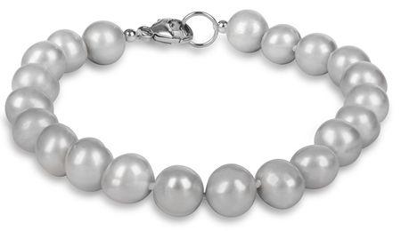 JwL Luxury Pearls Bransoletka prawdziwe perły szare JL0359 srebro 925/1000
