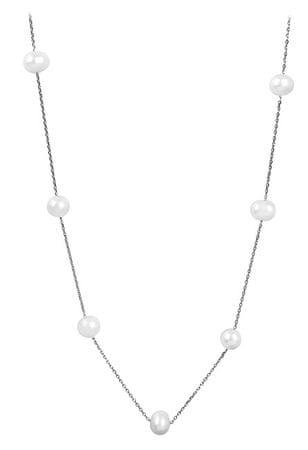 JwL Luxury Pearls Delikatny naszyjnik z prawdziwych pereł JL0355 srebro 925/1000