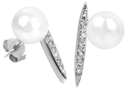 JwL Luxury Pearls Srebrne kolczyki z perłami i cyrkoniami prawo JL0363 srebro 925/1000