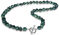 JwL Luxury Pearls Náhrdelník z pravých smaragdovo zelených perál JL0366