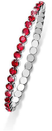 Oliver Weber Bransoletka z błyszczącymi czerwonymi kryształami Party 31013 227