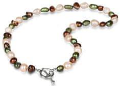 JwL Luxury Pearls Náhrdelník z pravých multibarevných perál JL0367