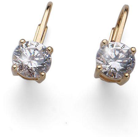 Oliver Weber Comfort aranyozott ezüst fülbevaló kristállyal 62071G ezüst 925/1000