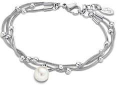 Lotus Style Damska bransoletka ze stali z perłą LS1851-2 / 1