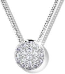 Modesi Slušivý náhrdelník zo striebra M41091 (retiazka, prívesok) striebro 925/1000