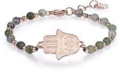 Brosway Jeklena zapestnica Fatima roka z nefritom BHK116