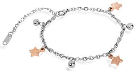 Troli bransoleta ze stali z brązu gwiazda