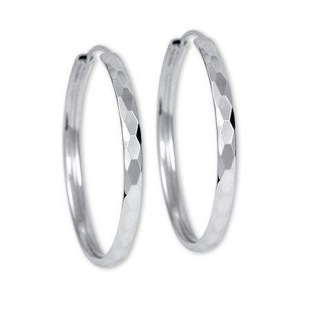 Brilio Silver Náušnice stříbrné kruhy 431 158 00027 04 stříbro 925/1000