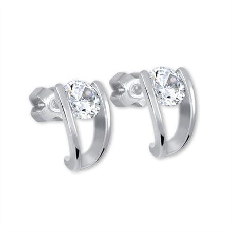 Brilio Silver Stříbrné náušnice s krystalem 436 001 00237 04 - 1,95 g stříbro 925/1000