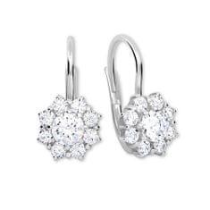 Brilio Silver Srebrni uhani s kristali 436 001 00322 04 - prozorni srebro 925/1000