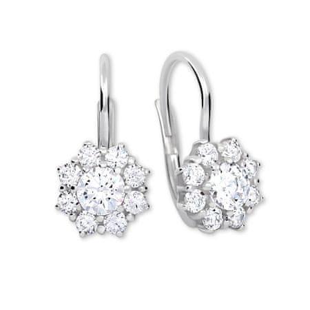 Brilio Silver Ezüst fülbevaló kristályokkal 436 001 00322 04 - tiszta ezüst 925/1000