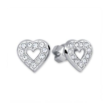 Brilio Silver Ezüst fülbevaló Szív 438 001 00614 04 ezüst 925/1000