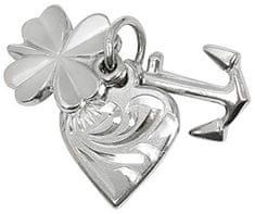 Brilio Silver Strieborný prívesok láska, šťastie, nádej 441 001 00005 04 striebro 925/1000