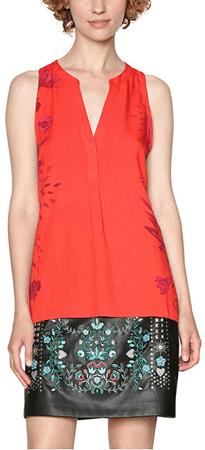 Desigual Damska bluzka Blus Colette 18SWBW50 3213 (rozmiar XS)