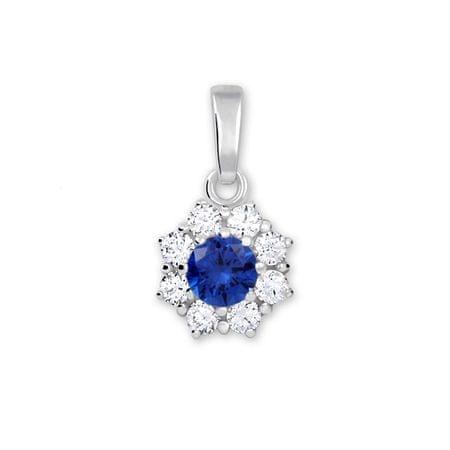 Brilio Silver Srebrn obesek s kristalom 446 001 00314 04 - modra barva srebro 925/1000
