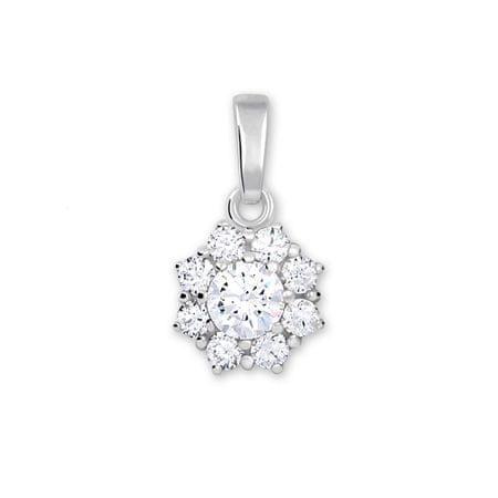 Brilio Silver Ezüst medál kristály 446 001 00314 04 - tiszta ezüst 925/1000