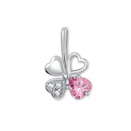 Brilio Silver Lóhere formájú ezüst medál446 001 00349 04 - rózsaszín - 0,43 g ezüst 925/1000