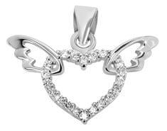 Brilio Silver Srebrn obesek Srce s krili 446 158 00041 04 srebro 925/1000