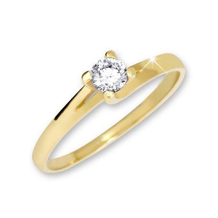Brilio Zlati zaročni prstan 223 001 00090 - 1,70 g (Vezje 50 mm) rumeno zlato 585/1000