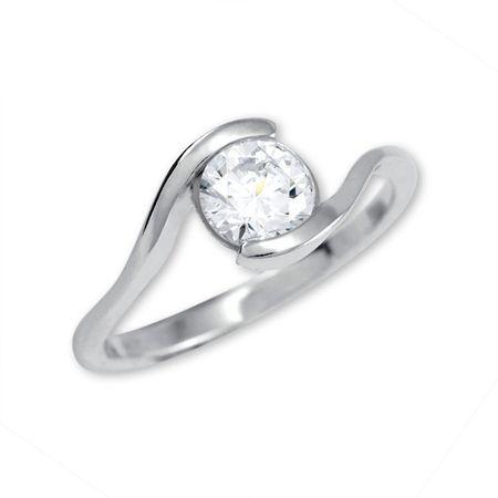 Brilio Silver Strieborný zásnubný prsteň 426 001 00422 04 - 1,98 g (Obvod 56 mm) striebro 925/1000