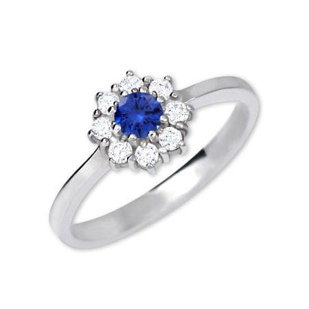 8f849d379 Strieborný zásnubný prsteň 426 001 00432 04 - modrý - 2,30 g (Obvod ...