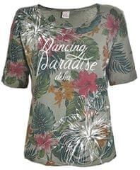 Deha Kobiety Graphic Tee koszula B74424 Dusty Zielony