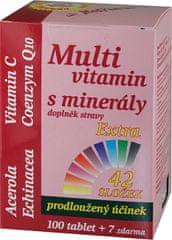 MedPharma Multivitamin s minerály 42 složek, extra C + Q10 100 tbl. + 7 tbl. ZDARMA