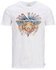Jack&Jones Koszulka męska Jorelectic Tee Jorelectic Crew Neck Cloud Dancer