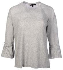 Vero Moda Ladies T-shirt Jakuri 3/4 mankietów Frill Top D2-2 Light Grey Melange Melange