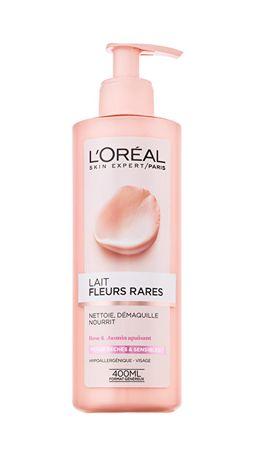 L'ORÉAL PARIS Odličovací mléko s výtažky vzácných květů pro suchou a citlivou pleť Skin Expert 400 ml