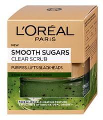 Loreal Paris Czyszczenie obierania na czarne kropki zawierające nasiona kiwi (Smooth Sugars Clear Scrub) 50 ml