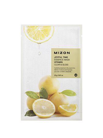 MIZON Plátýnková 3D maska s vitamínom C pre rozjasnenie a vitalitu pleti Joyful Time (Essence Mask Vitamin