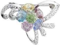 Preciosa Stříbrná brož Romance Combi 6638 70 stříbro 925/1000
