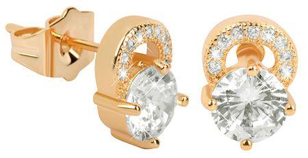 Troli Aranyozott csillogó fülbevaló színtiszta kristályokkal