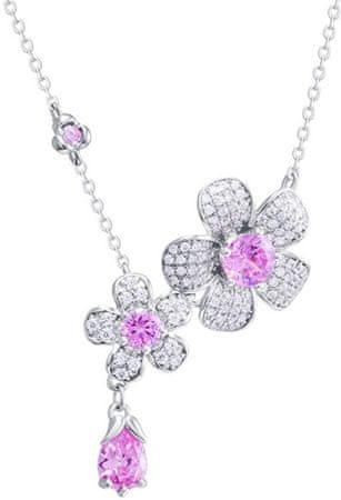 Preciosa Clematis Flower Naszyjnik 5222 69 srebro 925/1000