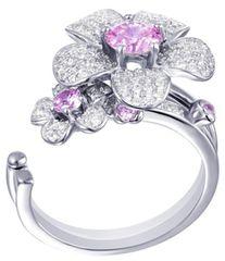 Preciosa Clematis Flower Pierścień 5224 69 srebro 925/1000