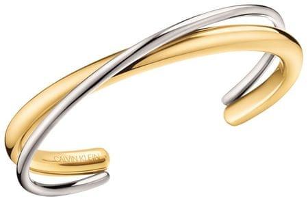 Calvin Klein Double merev bicolor karkötő KJ8XJF2001 (dimenzió S (5,8 x 4,6 cm))