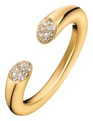 Calvin Klein Brilliant nyitott aranyozott gyűrű kristályokkal KJ8YJR140100